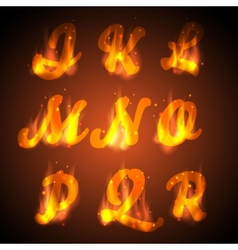 Fire alphabet vector image