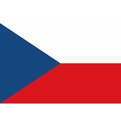 Flag of the Czech Republic vector image