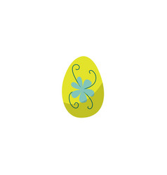 Flat decorated easter egg icon isolated vector