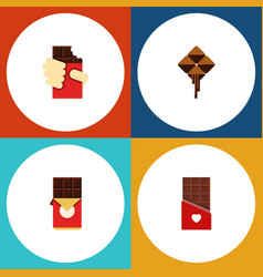 Flat icon sweet set of delicious shaped box vector