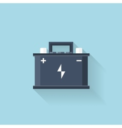 Flat web icon Battery accumulator vector image