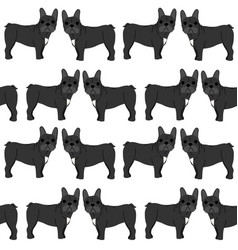 french bulldog in action seamless pattern vector image