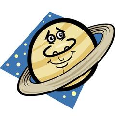 Funny saturn planet cartoon vector
