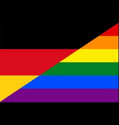 German gay flag or lgbt vector