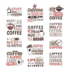 hand drawn coffee badge vector image