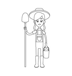 happy farmer icon image vector image
