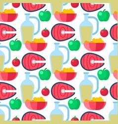 Healthy lifestyle diet porridge cerreal apple vector