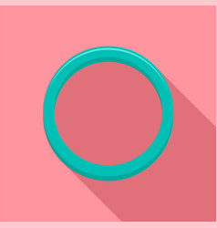 hormonal ring icon flat style vector image