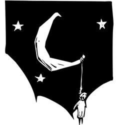 Hung Moon vector