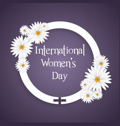 international womens day floral background vector image