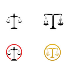 Justice lawyer logo and symbols template icons app vector