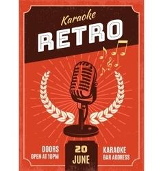 Karaoke Retro Style Poster vector