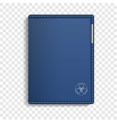 Leather sketchbook icon realistic style vector