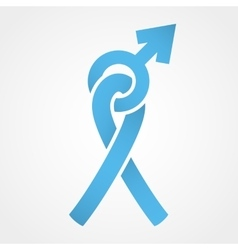 Light blue ribbon and Mars symbol vector image