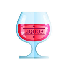 liquor glass flat color web icon vector image