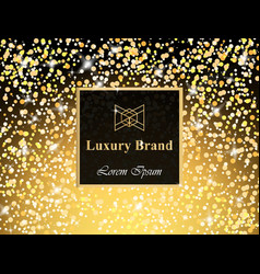 Luxury brand card with glitter abstract vector