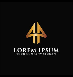 luxury letter a emblem logo design concept vector image