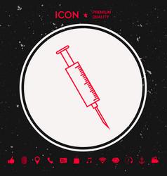 medical syringe icon vector image