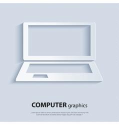 Modern computer - laptop vector