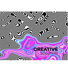 modern poster with 80 s wave pattern abstract vector image