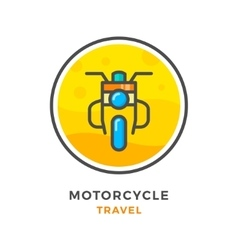 Motorcycle travel concept vector
