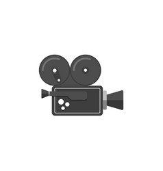 movie camera icon in flat style vector image