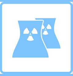 nuclear station icon vector image