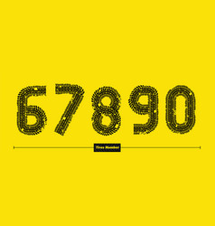 number tires style in a set 67890 vector image