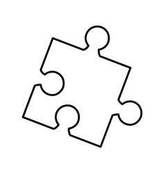 Puzzle game isolated icon vector