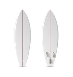 Realistic blank surfboard vector image