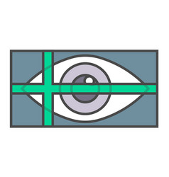 retina scan system pictogram vector image