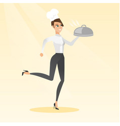 Running chef cook vector