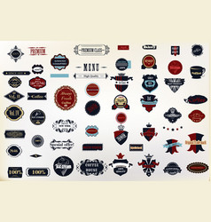 set decorative badges and labes for design vector image