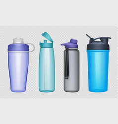 sport bottles realistic fitness accessories water vector image