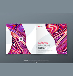 square brochure template layout design corporate vector image
