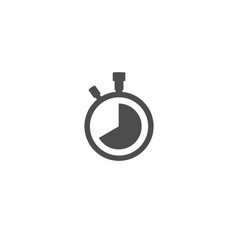 Stopwatch time pressure icon isolated on white vector