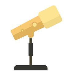 studio spot light icon flat style vector image