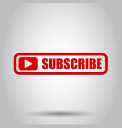 subscribe button icon business concept subscribe vector image