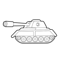 Tank icon outline style vector image