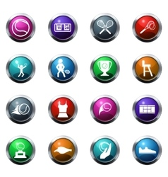 Tennis icons set vector