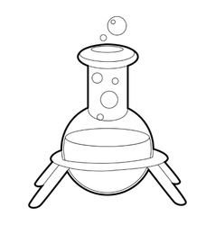 Test flask icon isometric 3d style vector