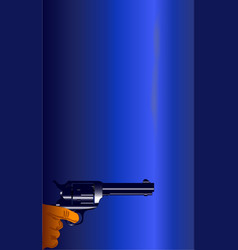 the smoking gun vector image