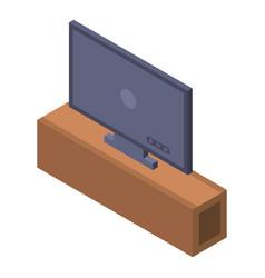 tv plasma icon isometric style vector image