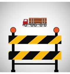 Under construction design supplies icon barrier vector image