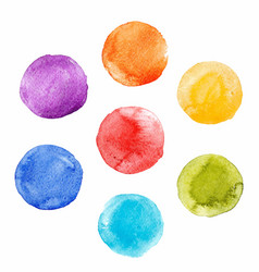 watercolor rainbow spot set vector image