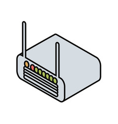 wifi router device icon vector image