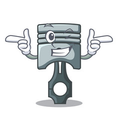 Wink piston character in a the box vector