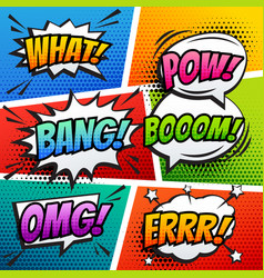 comic sound effect speech bubble pop art in vector image