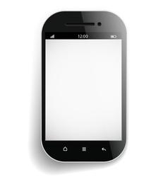 Photorealistic modern mobile phone template vector image vector image