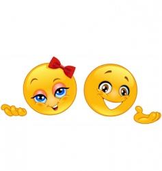 presenter emoticons vector image